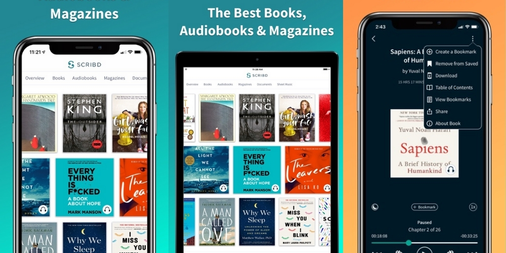 Scribd Audiobooks apps